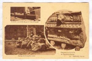 BAALBEK (Syrie), now Lebanon, 1910-30s ;  Three view postcard