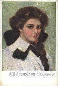 Artist Signed Clarence Underwood Series Nr. 832, M.Munk, Wien Unused light cr...