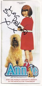 Su Pollard in Annie The Musical Hi De Hi Hand Signed Theatre Flyer