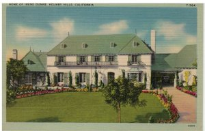 Postcard - Home Of Irene Dunne, Holmby Hills, California