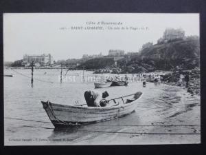 France: SAINT LUNAIRE Un coin de la Plage - Old Postcard