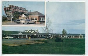 Bay Bridge Motel & Restaurant US 50 301 Grasonville Maryland postcard