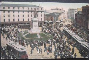 Monument Square Portland ME 1913 Leighton Valentine 29155