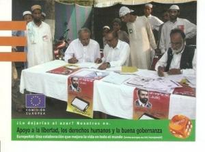 Postal 047740 : EuropeAid. Apoyo a la libertad los derechos humanos y la buen...