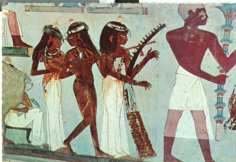 Egypt, Luxor, Tombs of Nobles, Painting in the Tomb of Nakht