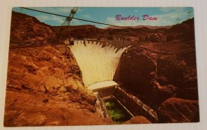 Vintage Postcard Boulder Dam Colorado River Arizona Nevada 1989   342