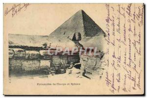 Postcard Ancient Egypt Egypt Pyramids of Cheops and Sphinx
