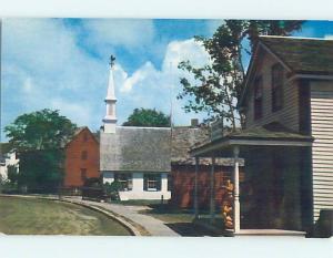 Unused Pre-1980 CHURCH SCENE Mystic Connecticut CT L3196