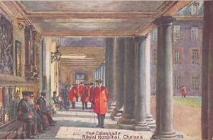 Chelsea Royal London Hospital Collonade Old Postcard