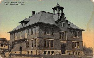 G32/ East Palestine Ohio Postcard c1910 North Avenue School Building