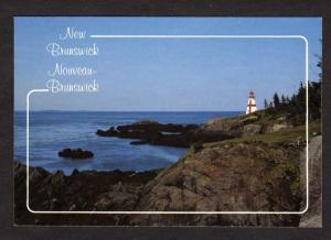 NB  Lighthouse Campobello Island NEW BRUNSWICK Postcard