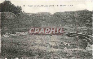 Postcard Ancient Ruins Champlieu Oise The Theater