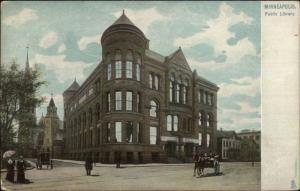 Minneapolis MN Library Raphael Tuck c1910 Postcard