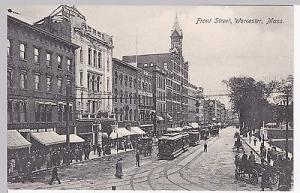 Postcard, Front Street, Worcester, Massachusetts, c. 1905...