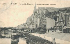Belgium Dinant Le quai de Meuse et station des Bateaux a vapeur 02.32