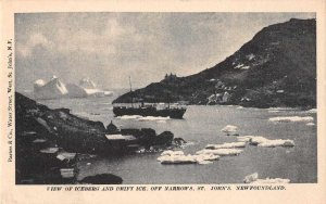 St Johns Newfoundland Canada Iceberg and Drift Ice Vintage Postcard JI657623