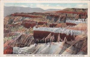 On The Union Pacific System Cedar Breaks In Southern Utah Reached From Cedar ...