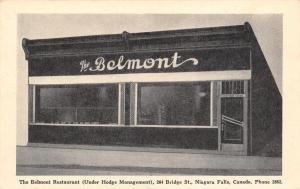 Niagara Falls ON Belmont Street Under Hodge Mgmt @ 264 Bridge St 1941 Postcard