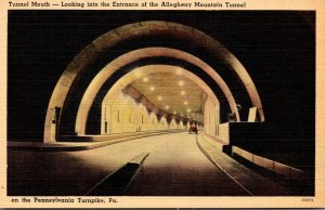 Pennsylvania Turnpike Tunnel Mouth Looking Into The Entrance Of Allegheny Mou...