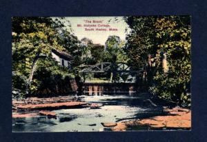 MA Brook Mt Holyoke College SOUTH HADLEY MASS 1900's PC