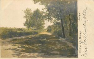 1908 Stillwater Oklahoma Hand Tinted Rural View Old Road postcard 828