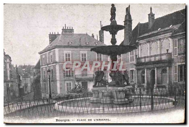 Old Postcard Bourges Place De L Arsenal