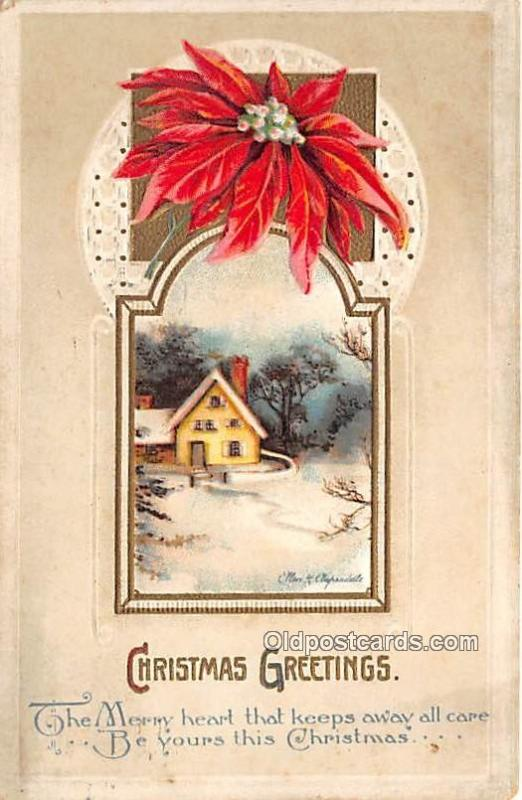 Christmas  Ellen H Clapsaddle, Series 1572 1913 yellowing markings from age