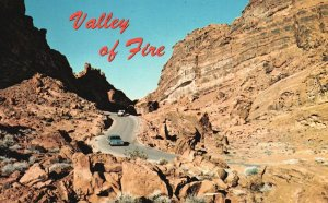 North of Las Vegas, Nevada, NV, Valley of Fire, Chrome Vintage Postcard g8495