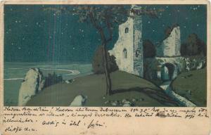 Vintage postcard signed E. L.  Meissner & Buch kunstler Postkarte 1913