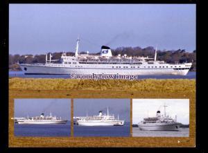 SIM0496 - Classic International Cruises Liner , Funchal , built 1961 - postcard
