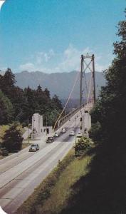 Classic Cars, View of Lions Gate Bridge, Vancouver, British Columbia, Canada,...