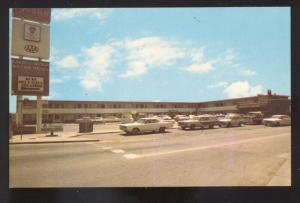 AMARILLO TEXAS ROUTE 66 1960's CARS FARRELL MANOR MOTEL ADVERTISING POSTCARD