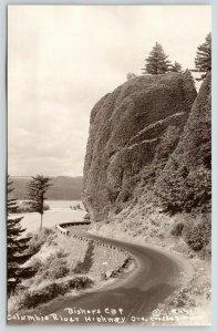 Columbia River Highway Oregon~Bishop's Cap on Curve~1920s Cross & Dimmitt RPPC