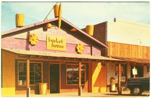 Scottsdale AZ Basket House Shop Storefront Scale Old Car Postcard