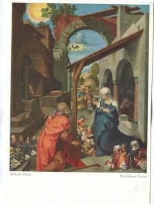 Albrecht Durer, Die Geburt Christi, unused Postcard