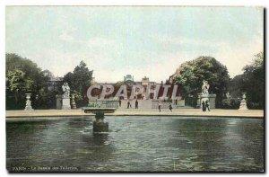 Old Postcard The Paris Basin Tuileries