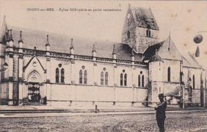 France Isigny sur Mer Eglise XIII siecle en partie reconstruite