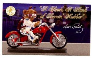 A Hunk, A Hunk of Burnin' Rubber - Elvis Bear on Motorcycle