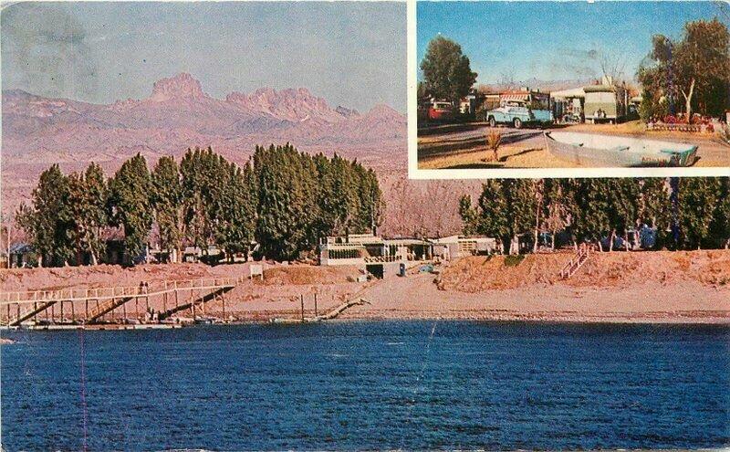 Arizona Colorado River Queen Resort Trailer Park Motel  Postcard 20-4500