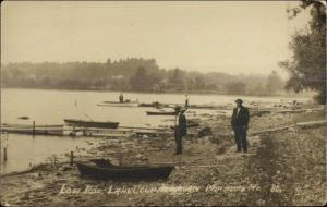 Monmouth ME Low Tide at Lake c1915 Real Photo Postcard