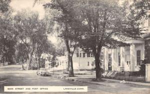 Lakeville Connecticut Main Street Post Office Antique Postcard K98960