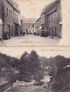 Belle Isle En Terre Rue Eudon 2x Antique French Postcard s