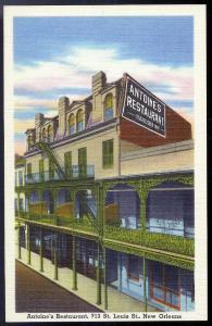 Antoines Restaurant New Orleans LA unused c1940s
