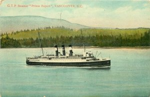 Steamship, G.T.P. Prince Rupert, Vancouver, British Columbia, European Import Co