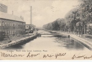 LAWRENCE , Massachusetts, 1907 ; North Side Canal
