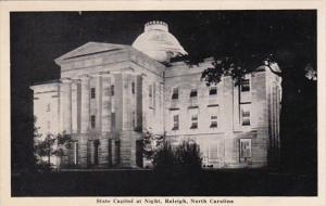 North Carolina Raleigh State Capitol At Night 1941