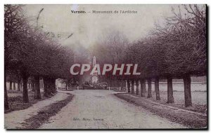 Old Postcard Vernon Monument & # 39Ardeche
