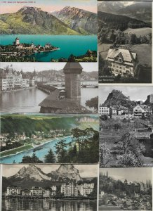 Switzerland Spiez Luzern Brunnen and More Lot of 40 01.10
