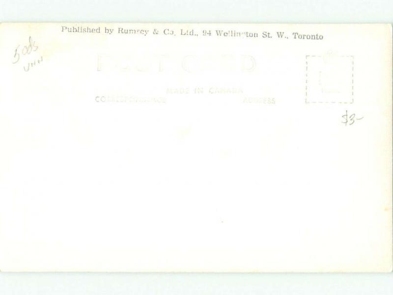 Pre-1962 rppc PEACE RIVER BRIDGE BEFORE IT COLLAPSED Fort St. John BC W1016