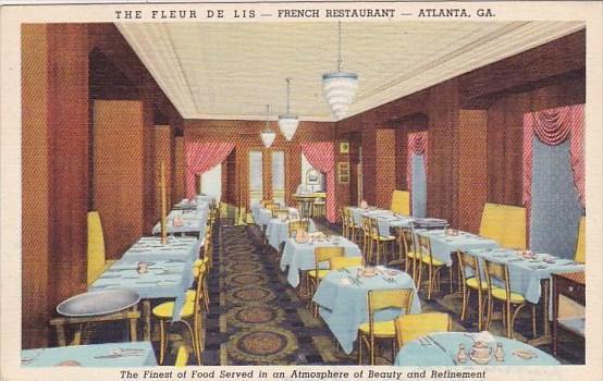 Atlanta The Fleur De Lis French Restaurant Georgia